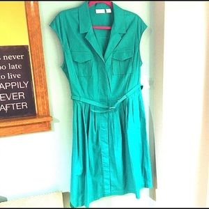 Liz Claiborne Belted Button Down Dress